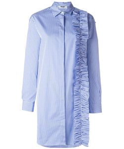 MSGM | Ruffle Detail Shirt Dress 42 Cotton