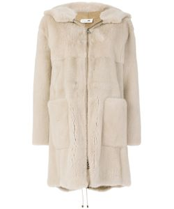 Manzoni 24 | Hooded Mid Fur Coat Women Mink