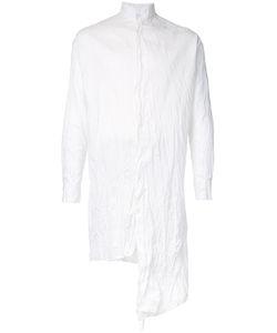 A NEW CROSS | Асимметричная Жатая Рубашка