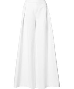 Carolina Herrera | Pleated Detail Palazzo Pants 6 Silk/Cotton
