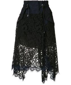 Sacai   Asymmetric Lace Skirt Size