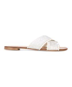 Stuart Weitzman   Edgeoutmini Glitter Sandals