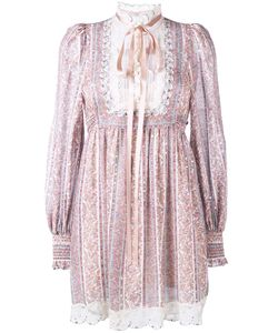 Marc Jacobs | Paisley Stripe Gauze Long Sleeve Dress
