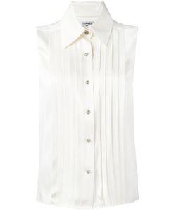 Chanel Vintage | Гофрированная Рубашка Без Рукавов