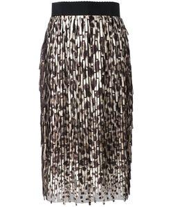 Dolce & Gabbana | Leopard Print Midi Skirt Size 40