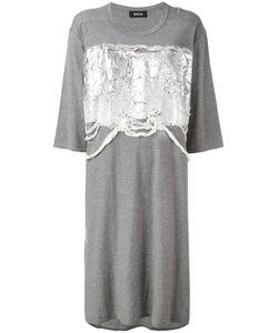 Zucca | Платье-Футболка С Блестящей Аппликацией