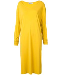 Jil Sander | Loose Fit V-Neck Dress Size 34