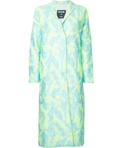 MSGM | Textured Midi Coat Size 46