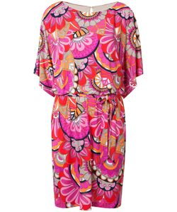 Trina Turk | Printed Belt Dress Xl Polyester/Spandex/Elastane