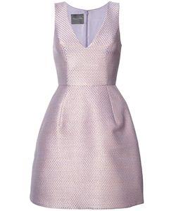 Monique Lhuillier | Расклешенное Платье С Эффектом Металлик