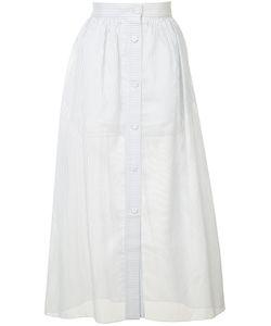 VILSHENKO | Striped A-Line Skirt 12
