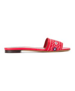 Tabitha Simmons | Dizzy Embroidered Sandals