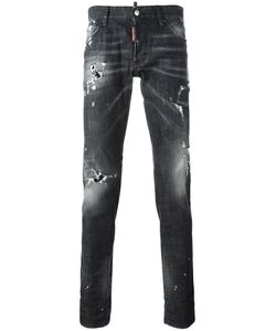 Dsquared2 | Slim Bleached Distressed Jeans 44 Cotton/Spandex/Elastane