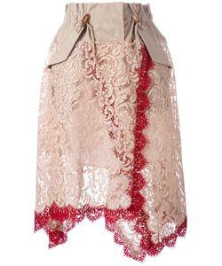 Sacai   Lace Overlay Military Waist Skirt Size