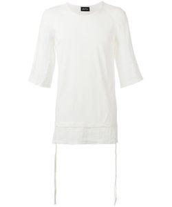 ANDREA YA'AQOV | Linen-Trimmed T-Shirt Size Medium