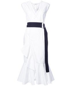 Derek Lam 10 Crosby | Платье Миди С Черным Поясом
