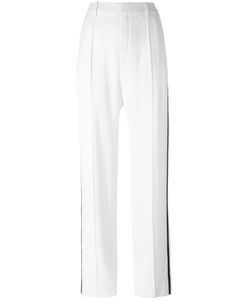 Chloe | Chloé Straight Leg Piped Trousers 38 Acetate/Viscose/Silk