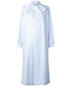 Saks Potts | Neck Tie Checked Dress 1 Cotton