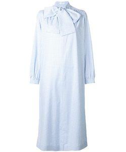 Saks Potts | Neck Tie Checked Dress 1 Cotton