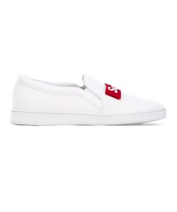 Joshua Sanders | Super Fresh Slip-On Sneakers Size 44 Cotton/Leather/Foam