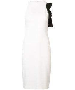 Black Halo | Asymmetric Ruffle Trim Dress 10 Polyimide/Spandex/Elastane
