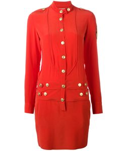 Pierre Balmain | Band Collar Buttoned Dress 40 Silk