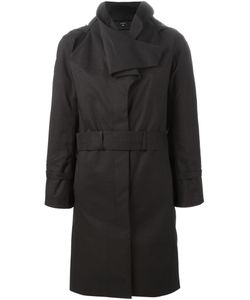 NORWEGIAN RAIN | Oversize Collar Belted Coat Women Polyester/Cashmere/Recycled