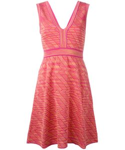 Missoni | M Plunge Neck Patterned Dress Size 40 Polyamide/Viscose/Cotton/