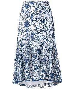 MARTHA MEDEIROS | Midi Lace Naty Skirt Size 40