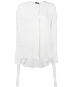 Calvin Klein Collection | Полупрозрачная Рубашка С Потайной Застежкой