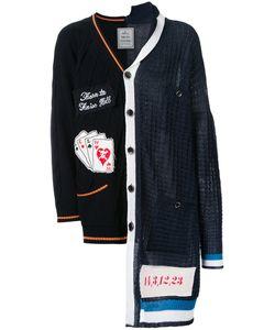 MIHARA YASUHIRO   Miharayasuhiro Combined Knit Cardigan 46 Cotton/Acrylic