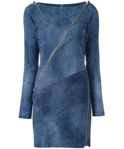 Jitrois | Zip Detail Bodycon Dress 38 Leather/Cotton/Spandex/Elastane