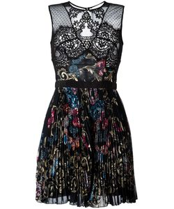 Zuhair Murad | Printed Pleated Dress 42 Viscose/Polyester/Nylon