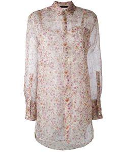 Calvin Klein Collection | Полупрозрачная Рубашка С Цветочным Узором