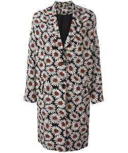 Alberto Biani | Print Buttoned Coat 40 Silk/Acetate/Viscose