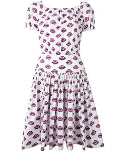 Prada | Lip Print Flared Dress Size 44