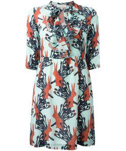 L' Autre Chose | Lautre Chose Rabbits Print Dress 44 Silk