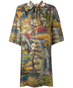 Antonio Marras | Print Shift Dress 42 Silk