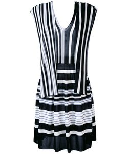 MSGM | Полосатое Платье С V-Образным Вырезом