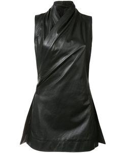 Rick Owens | Twisted Sleeveless Jacket 44 Cupro/Leather