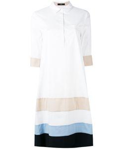 Steffen Schraut   Striped Panel Shirt Dress Size 36