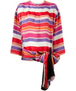 GIANFRANCO FERRE VINTAGE | Bow Detail Striped Blouse 42