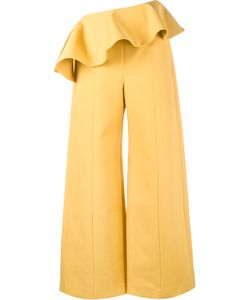 Rosie Assoulin | Ruffle Wide-Leg Trousers 0 Cotton/Spandex/Elastane