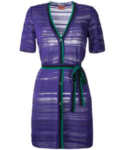 Missoni | Buttoned Belted Dress 44 Polyester/Viscose