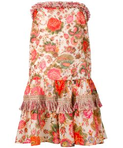 ANJUNA | Mixed Print Strapless Dress