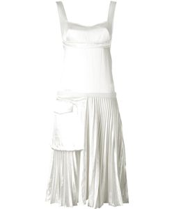 Victoria Beckham   Плиссированное Платье С Карманом Сбоку