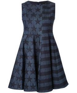 DRESS CAMP | Dresscamp Stars And Stripes Print Dress 38 Cotton/Polyurethane