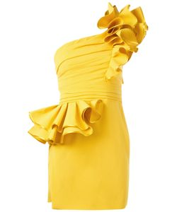 Dsquared2 | One Shoulder Dress 38 Viscose/Acetate/Wool/Silk
