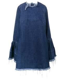 Marques Almeida | Marquesalmeida Frayed Denim Dress With Bell Sleeves