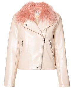 SHRIMPS | Blush Taffy Biker Jacket Size 6
